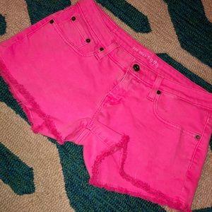 Big Star Hot Pink Shorts